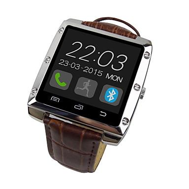 caso de cuero de la venda de metal reloj inteligente 1.44