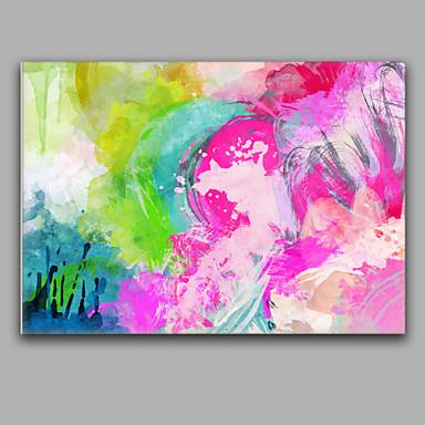 Kézzel festett AbsztraktMediterrán Egy elem Vászon Hang festett olajfestmény For lakberendezési