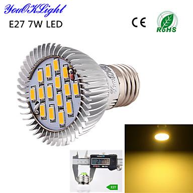 E26/E27 LED szpotlámpák A50 15 led SMD 5630 Dekoratív Meleg fehér 600lm 3000K AC 220-240 AC 110-130V