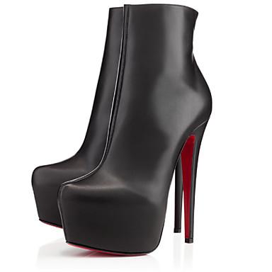 Žene Zima Ravne platformke Modne čizme Umjetna koža Formalne prilike Ležeran Zabava i večer Stiletto potpetica PlatformaCrna Plava Žuta