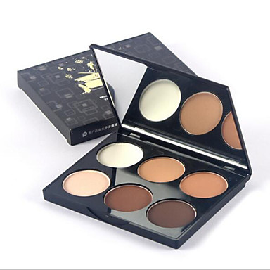 6 Pressed Powder Dry Pressed powder Whitening Moisture Concealer Uneven Skin Tone Natural Dark Circle Treatment Pore-Minimizing Freckle