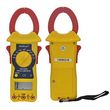 Manual Range Digital Clamp Meter Voltage & Resistance Testing Multimeter HoldPeak HP-6206