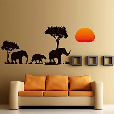 Manzara Hayvanlar Romantizm Moda Şekiller Tatil Karton Fantezi Botanik Duvar Etiketler Uçak Duvar Çıkartmaları Dekoratif Duvar