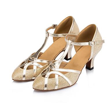 Szabványos méret - Kubai sarok - Szatén / Csillogó flitter - Latin / Dzsessz / Modern / Swing-cipők - Női