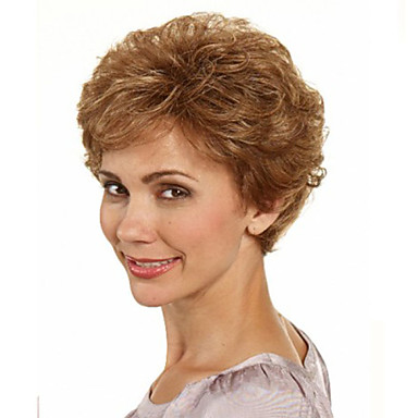 Synthetic Wig Wavy With Bangs Women's Capless Short Synthetic Hair