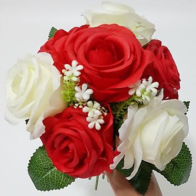 Esküvői virágok Csokrok Esküvő Party / estély Szatén 13