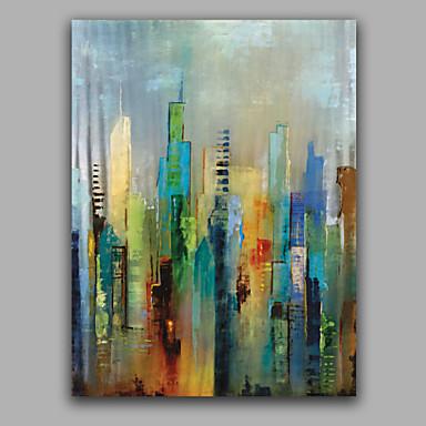 Hang malte oljemaleri Håndmalte - Abstrakt Europeisk Stil Med Ramme / Stretched Canvas
