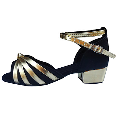 Sapatos de Dança (Preto / Azul / Marrom / Vermelho) - Feminino / Infantil - Não Personalizável - Latina