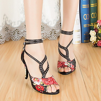 Sapatos de Dança(Vermelho) -Feminino-Não Personalizável-Latina Jazz