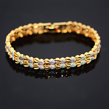 Women's Chain Bracelet Love Gold Plated LOVE Jewelry Christmas Gifts Wedding Party Daily Casual
