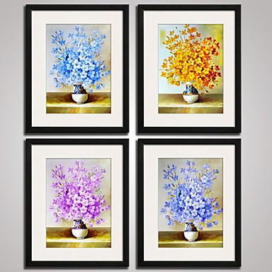 Floral/Botânico Vida Imóvel Abstracto Fantasia Impressão de Arte Emoldurada Quadros Emoldurados Conjunto Emoldurado Arte de Parede,PVC