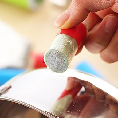 ziqiao 2pcs pincel mágico haste de aço inoxidável vara mágica metal oxidação removedor de limpeza (cores aleatórias)