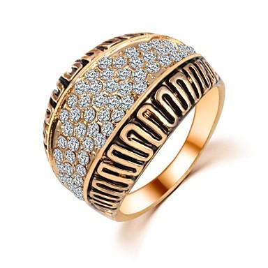 Feminino Anéis Grossos bijuterias Zircão Jóias Para Casamento Festa Diário Casual