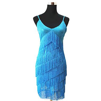Latin Dance Dresses Women's Performance Polyester Tassel Dress / Samba