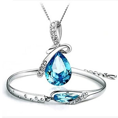 Women's Crystal Cross Wedding Party Birthday Engagement Gift Daily Casual Necklaces Bracelets & Bangles Costume Jewelry
