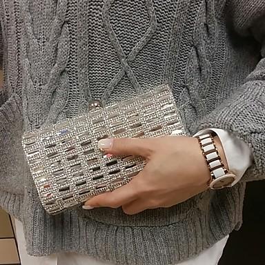 Női Táskák PU Fém Estélyi táska Akril ékszerek mert Esküvő Party Előírásos Minden évszak Fekete Ezüst