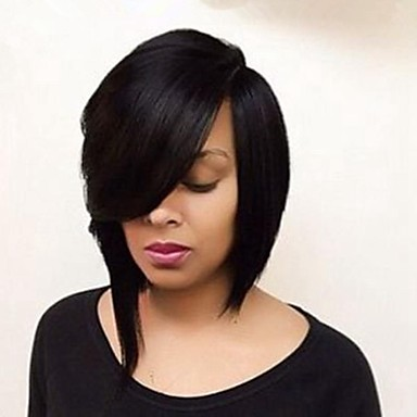 Glueless Brazilian Virgin Hair  Human Hair Bob Wig For Black Women Short Cut Lace Front Human Hair Wigs