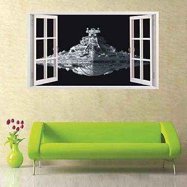 Decorative Wall Stickers - 3D Wall Stickers Still Life Military Fashion Shapes 3D Vintage Cartoon Fantasy Living Room Bedroom Bathroom