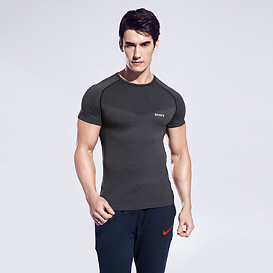 Men's Running T-Shirt Short Sleeves Quick Dry Breathable Sweat-wicking Top for Camping / Hiking Boxing Equestrian Exercise & Fitness