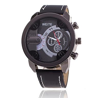 Xu™ Homens Relógio de Pulso Quartzo Venda imperdível Couro Banda Amuleto Preta Marrom