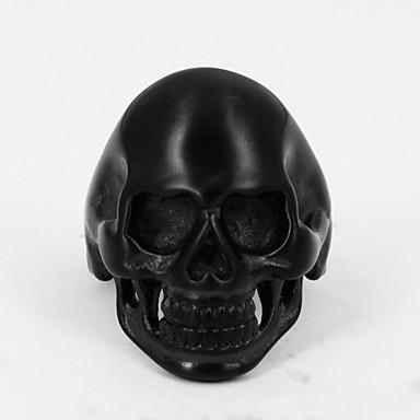 Punk Men's Skull Stainless Steel Ring Band Rings