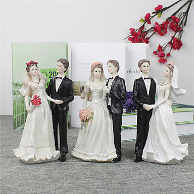 Cake Topper Beach Theme Garden Theme Asian Theme Floral Theme Classic Theme Classic Couple Resin Wedding Anniversary Bridal Shower With