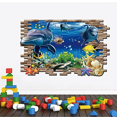 Animais / Vida Imóvel / Moda / Feriado / Paisagem / Formas / Fantasia / Lazer Wall Stickers Autocolantes 3D para Parede , PVC 70*100CM