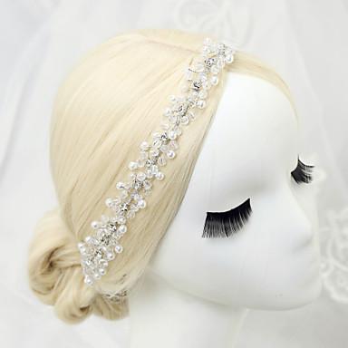 Imitação de Pérola Strass Liga Headbands 1 Casamento Ocasião Especial Aniversário Festa / Noite Capacete
