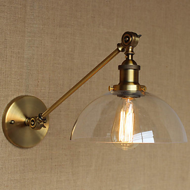 lights for a bedroom the iron glass bronze brass arm style retro creative 15887