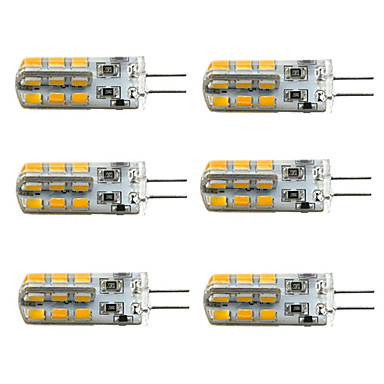 1.5W 100-150 lm G4 LED Corn Lights T 24 leds SMD 2835 Dimmable Warm White Cold White DC 12V