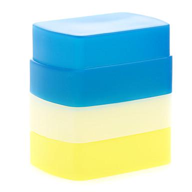 סיליקון חדש softbox מפזר להקפיץ פלאש גמיש לבן + צהוב + כחול 580EX Canon ii yn-568/565/560 iii