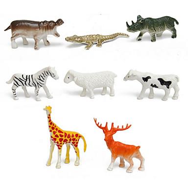 Cavalo Crocodilo Ovelha Zebra Veado Bonecos, Figuras de ação Brinquedos de Montar Animais Simulação Novidades Desenho Plástico Para