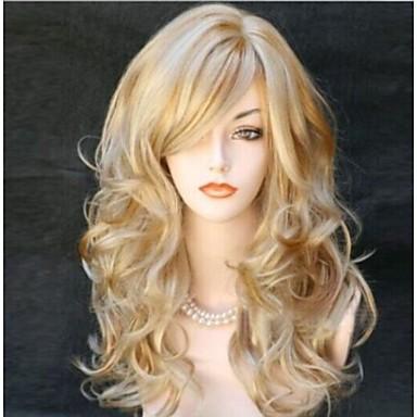 Syntetiske parykker Krøllet Syntetisk hår Blond Parykk Dame Lang Halloween parykk / Karneval Parykk Lokkløs