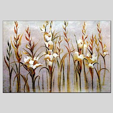 Maalattu Kukkakuvio/KasvitiedeModerni / Classic / Perinteinen / European Style 1 paneeli Kanvas Hang-Painted öljymaalaus For Kodinsisustus