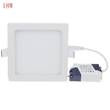1pc 18w led-paneeli valot 90 suurteho led 1700lm lämmin / kylmä valkoinen koriste ac85-265v