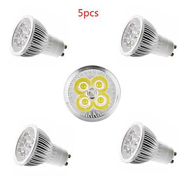5pcs 4w e14 / gu10 / gu5.3 / e27 vodio reflektor 4 smd 350lm toplo bijelo hladno bijelo ukrasno ac85-265v