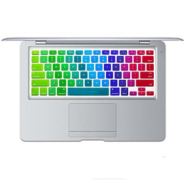 szivárvány fényes tervezés szilikon billentyűzet fedél bőr MacBook Air 11,6 minket elrendezés