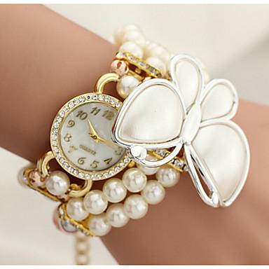 The butterfly wrapped Diamond Pearl Flower Bracelet Watch