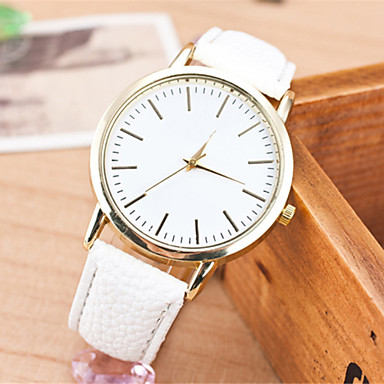 Damen Armbanduhr Schlussverkauf Leder Band Charme / Modisch Schwarz / Weiß / Braun / Ein Jahr / SSUO LR626