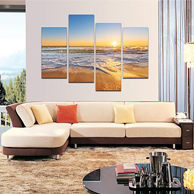 Abstracto / Fantasia / Lazer / Paisagem / Fotografia / Moderno / Romântico / Pop Art Impressão em tela 4 Painéis Pronto para pendurar,