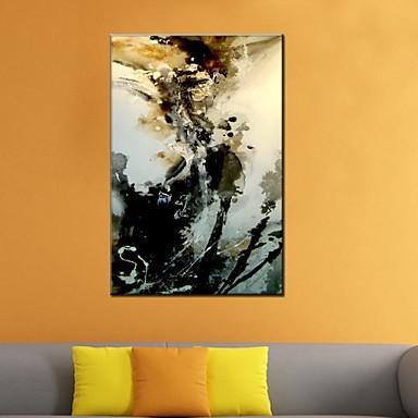 Kézzel festett AbsztraktKlasszikus / Tradicionális / Rusztikus / Európai stílus / Modern Egy elem Vászon Hang festett olajfestmény For