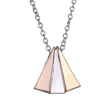 Naisten Riipus-kaulakorut Geometric Shape Metalliseos Hopea Kultainen Korut Varten Häät Party Päivittäin Kausaliteetti 1kpl