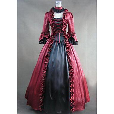 고딕 로리타 빅토리안 여성용 한 조각 드레스 코스프레 긴 소매