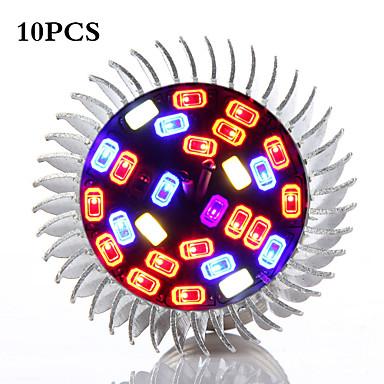 500 lm E26/E27 Wachsende Glühbirnen 28 Leds Natürliches Weiß Blau Rot Wechselstrom 85-265V
