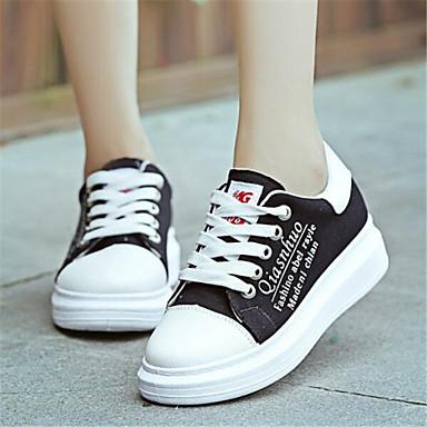 Ženske cipele-Modne tenisice-Aktivnosti u prirodi / Ležerne prilike-Platno-Platforma-Udobne cipele-Crna / Crvena