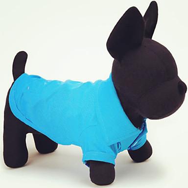 Kat / Hund Trøye / T-skjorte Hundeklær Ensfarget Grønn / Blå / Rosa Bomull Kostume For kjæledyr Sommer Herre / Dame Fritid / hverdag