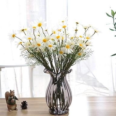 פרחים מלאכותיים 1 ענף סגנון מודרני חינניות פרחים לשולחן