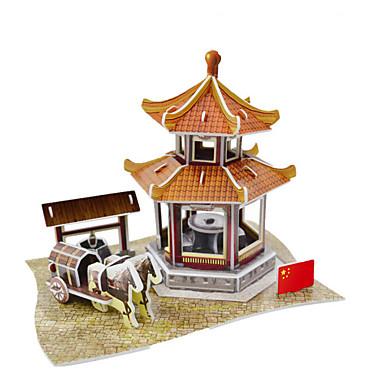 중국 파빌리온 3D 퍼즐 종이 DIY 장난감은 장난감을 성형