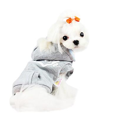 Pas Hoodies Odjeća za psa Pismo i broj Sive boje / Crvena Pamuk Kostim Za kućne ljubimce Muškarci / Žene Moda