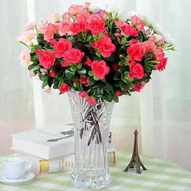 Kunstige blomster 1 Gren Pastorale Stilen Azalea Bordblomst